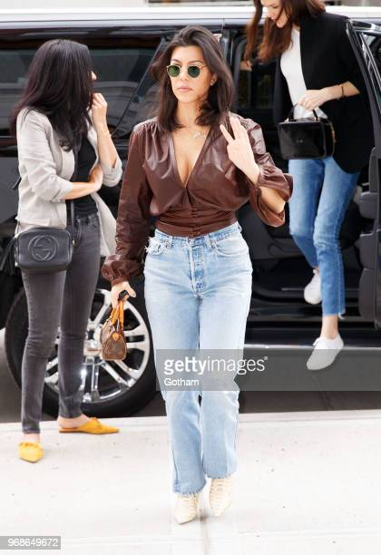 Kourtney Kardashian is seen out shopping on June 6 2018 in New York City