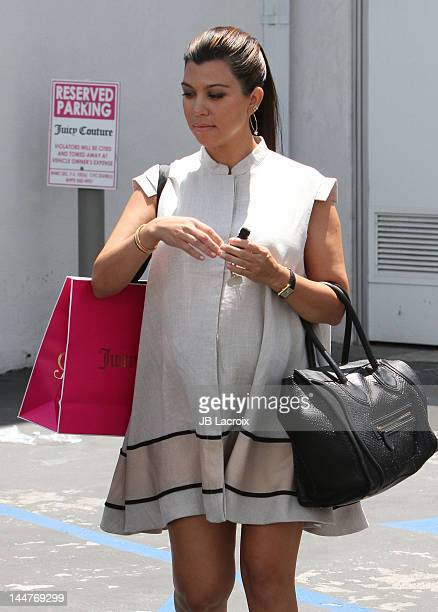 Kourtney Kardashian is seen shopping on May 18, 2012 in Beverly Hills, California.