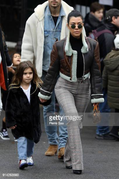 Kourtney Kardashian is seen with her daughter Penelope in central Park on February 4 2018 in New York City