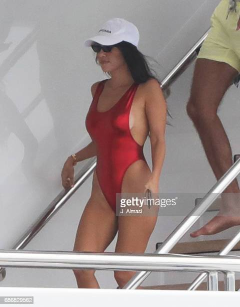 Kourtney Kardashian is spotted during the 70th annual Cannes Film Festival at on May 22 2017 in Cannes France