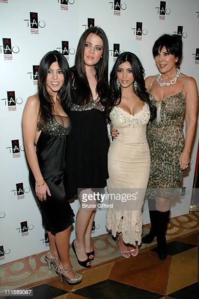 Kourtney Kardashian Khloe Kardashian Kim Kardashian and mother Kris Jenner