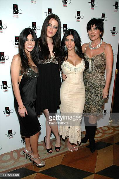 Kourtney Kardashian, Khloe Kardashian, Kim Kardashian, and mother Kris Jenner