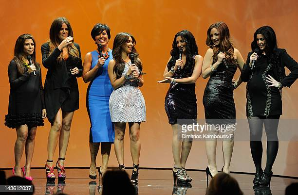 Kourtney Kardashian Khloe Kardashian Kris Jenner and Kim Kardashian of Keeping Up With The Kardashians and Nasim Petrad Abby Elliott and Vanessa...