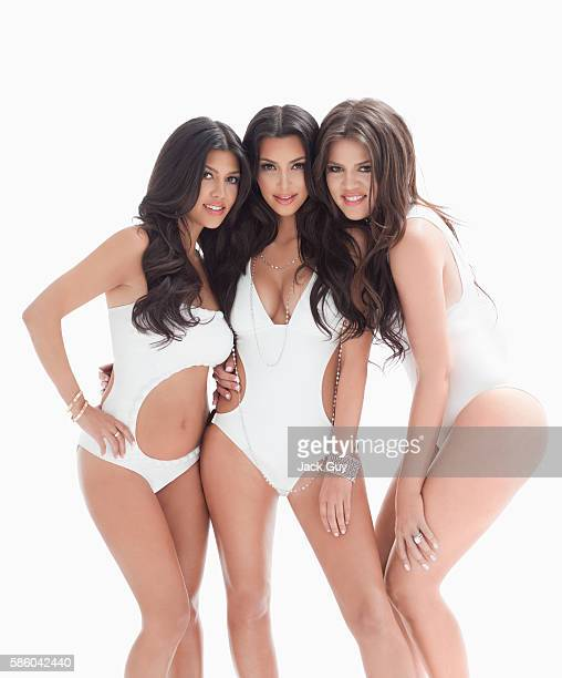 Kourtney Kardashian, Kim Kardashian and Khloe Kardashian are photographed for Vegas Magazine in 2010 in Los Angeles, California. COVER