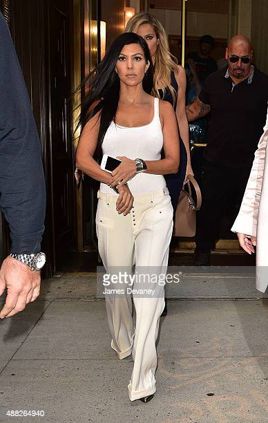 Kourtney Kardashian leaves Cipriani Downtown on September 14 2015 in New York City