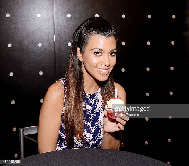 Kourtney Kardashian makes a special appearance at Kardashian Khaos at The Mirage Hotel and Casino on April 12 2014 in Las Vegas Nevada