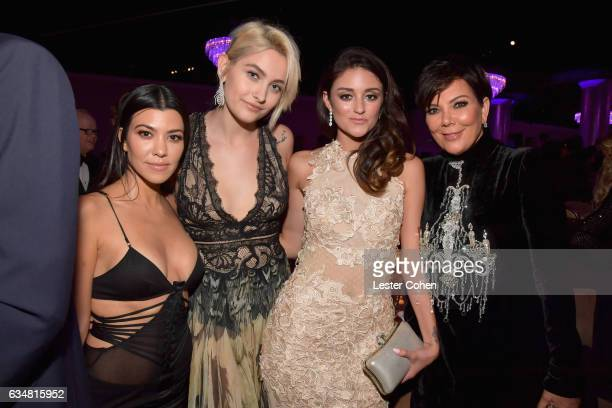 Kourtney Kardashian Paris Jackson Caroline D'Amore and Kris Jenner attend PreGRAMMY Gala and Salute to Industry Icons Honoring Debra Lee at The...