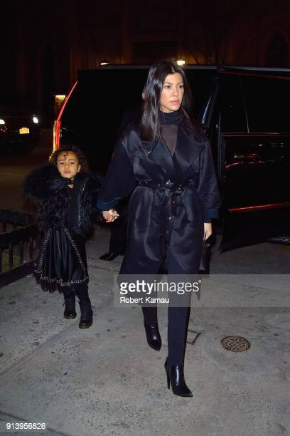 Kourtney Kardashian seen out and about with her niece North West on February 3 2018 in New York City