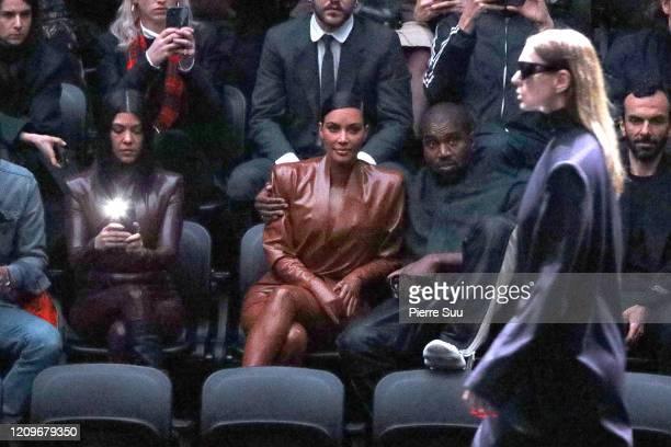 Kourtney KardashianKim Kardashian and Kanye West attend the Balenciaga show as part of the Paris Fashion Week Womenswear Fall/Winter 2020/2021 on...