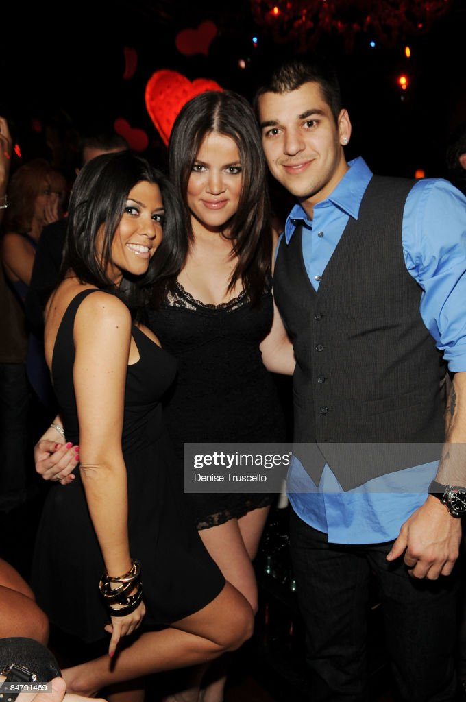 Kourtney, Khloe and Robert Kardashian attends at TAO Las Vegas in The Venetian Hotel and Casino Resort on February 13, 2009 in Las Vegas, Nevada.