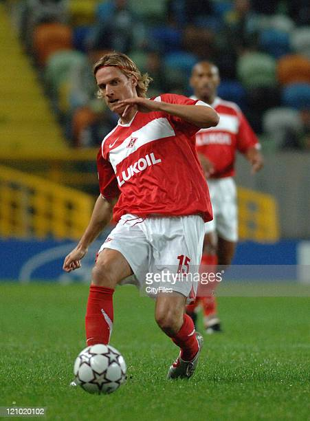 Kovac during a UEFA Champions match between Spartak Moscow and Sporting in Libson Portugal on December 5 2006