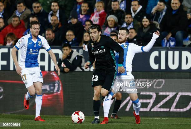STADIUM LEGANéS MADRID SPAIN Kovacic competes for the ball with Tito during the match Jan 2018 Leganés and Real Madrid CF at Butarque Stadium Copa...