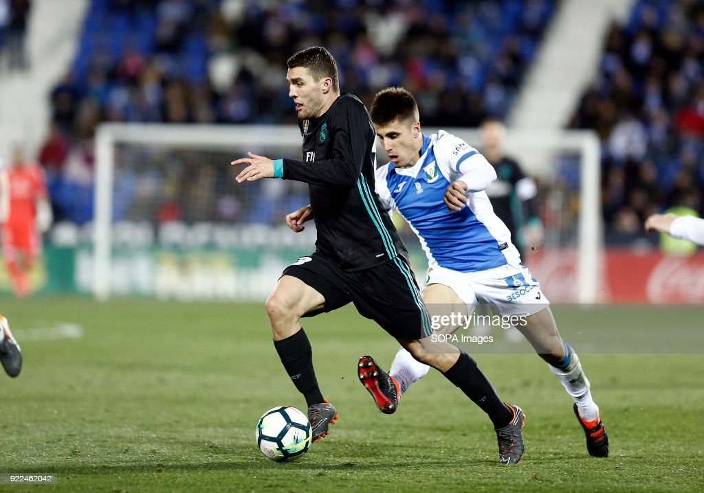 BUTARQUE, LEGANES, MADRID, SPAIN - : Kovacic (Real Madrid) in action during the match between Leganes vs Real Madrid at the Estadio Butarque Final Score Leganes 1 Real Madrid 3.