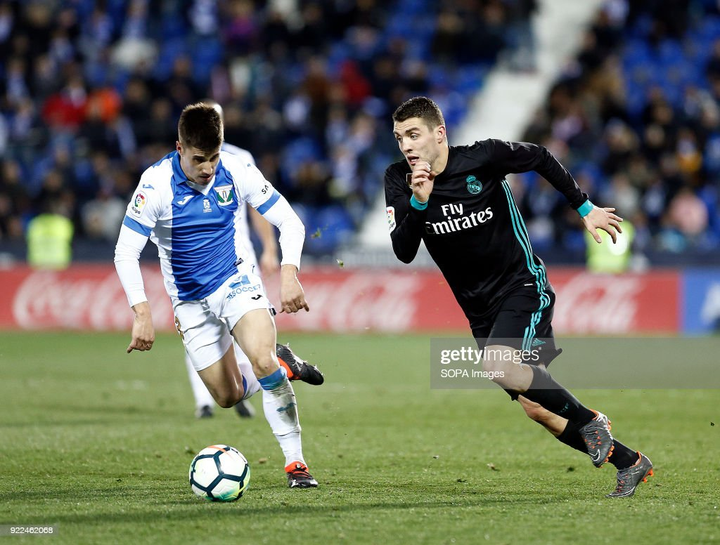 BUTARQUE, LEGANES, MADRID, SPAIN - : Kovacic (Real Madrid) in action during the match between Leganes vs Real Madrid at the Estadio Butarque. Final Score Leganes 1 Real Madrid 3.