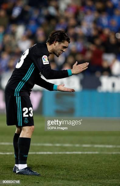 STADIUM LEGANéS MADRID SPAIN Kovacic laments during the match Jan 2018 Leganés and Real Madrid CF at Butarque Stadium Copa del Rey Quarter Final...