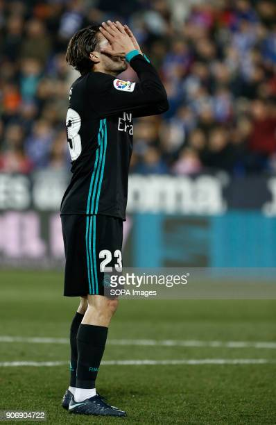STADIUM LEGANéS MADRID SPAIN Kovacic laments for an occasion lost during the match Jan 2018 Leganés and Real Madrid CF at Butarque Stadium Copa del...