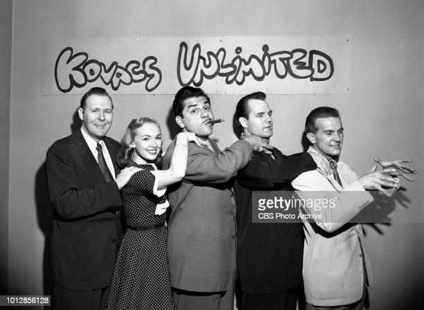 Kovacs Unlimited September 8 1952 New York NY CBS television comedy show Kovacs Unlimited From left to right Ernie Hatrak Edie Adams Ernie Kovacs...