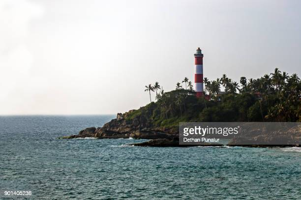 kovalam light house - thiruvananthapuram stock photos and pictures