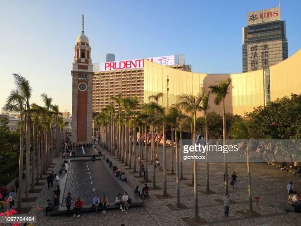 kowloon clock tower, hong kong - tsim sha tsui stock pictures, royalty-free photos & images