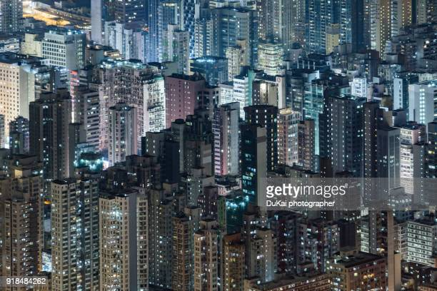 kowloon peninsula, hong kong - urban sprawl stock pictures, royalty-free photos & images