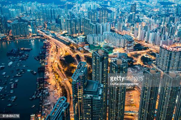 kowloon peninsula, hong kong - kowloon peninsula stock pictures, royalty-free photos & images