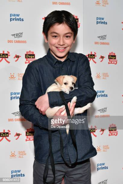 Koyu Rankin attends the 'Isle of Dogs' special screening at IFC Center on March 21 2018 in New York City