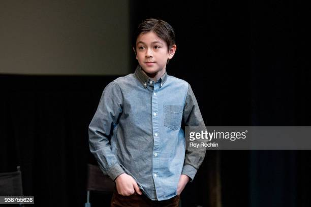 Koyu Rankin discusses 'Isle Of Dogs' during the New York Screening QA at The Film Society of Lincoln Center Walter Reade Theatre on March 22 2018 in...