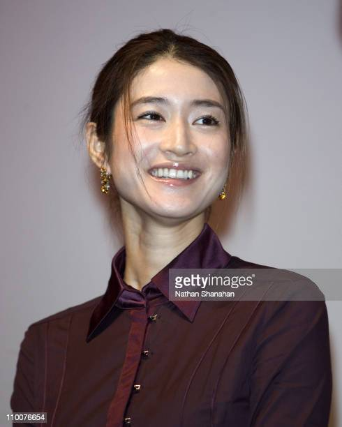 Koyuki during 18th Tokyo International Film Festival Always Sunset on Third Street Stage Greeting at Toho Virgin Cinema in Tokyo Japan
