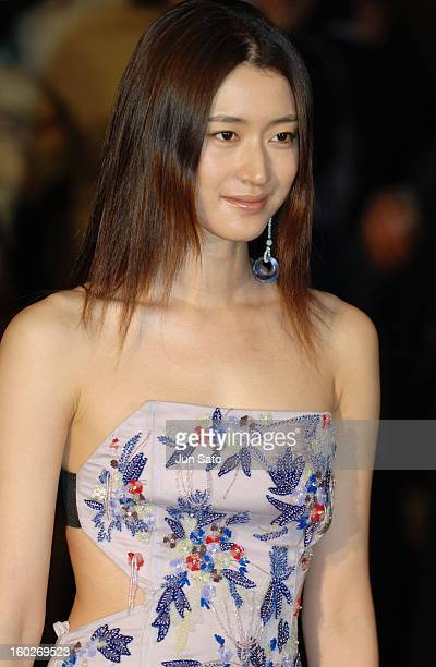 Koyuki during Giorgio Armani Fall/Winter 2005 Celebrity Arrivals at Meiji Shrine Shotoku Memorial Exhibition Hall in Tokyo Japan