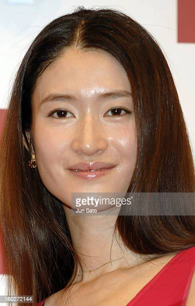Koyuki during Max Factor SK U Air Touch Foundation TV Commercial Press Preview with Koyuki at Studio in Tokyo Japan