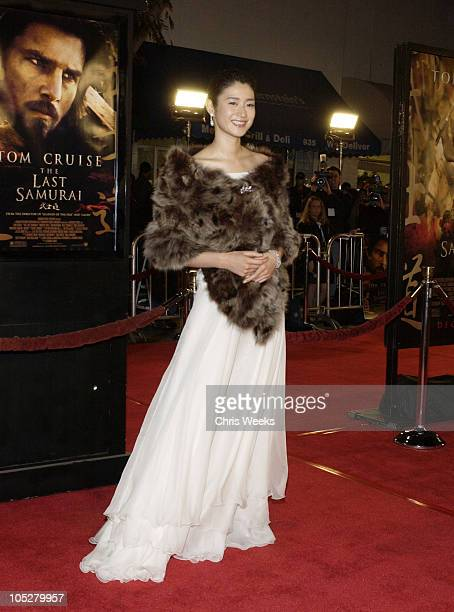 Koyuki during The Last Samurai Los Angeles Premiere at Mann's Village Theater in Westwood California United States