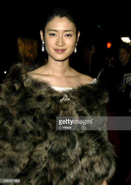 Koyuki during The Last Samurai Los Angeles Premiere Red Carpet at Mann National in Westwood California United States