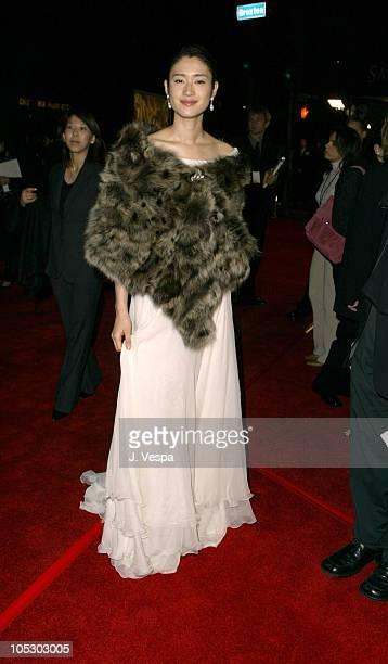 Koyuki during 'The Last Samurai' Los Angeles Premiere Red Carpet at Mann National in Westwood California United States