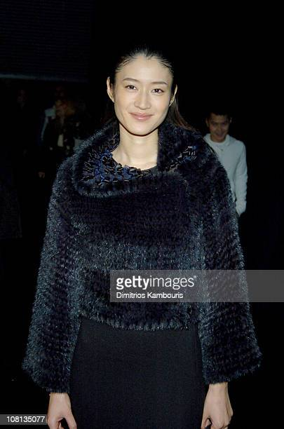 Koyuki Kato during Giorgio Armani Spring Summer 2005 Collection Arrivals at Pier 94 in New York City New York United States
