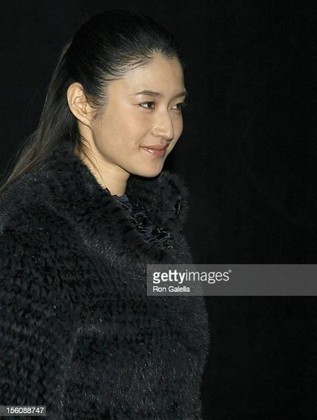 Koyuki Kato during Giorgio Armani Spring Summer 2005 Collection at Pier 94 in New York City, New York, United States.