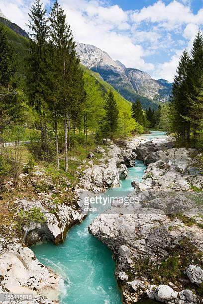 Kozjak Cascata (indossare Kozjak) nei pressi di Caporetto, Julian Alpi, Slovenia.