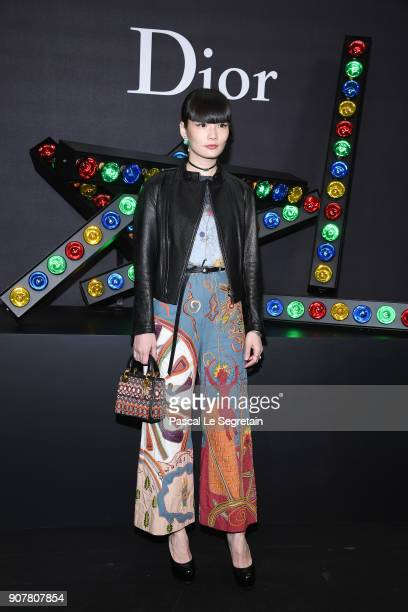 Kozue Akimoto attends Dior Homme Menswear Fall/Winter 20182019 show as part of Paris Fashion Week at Grand Palais on January 20 2018 in Paris France