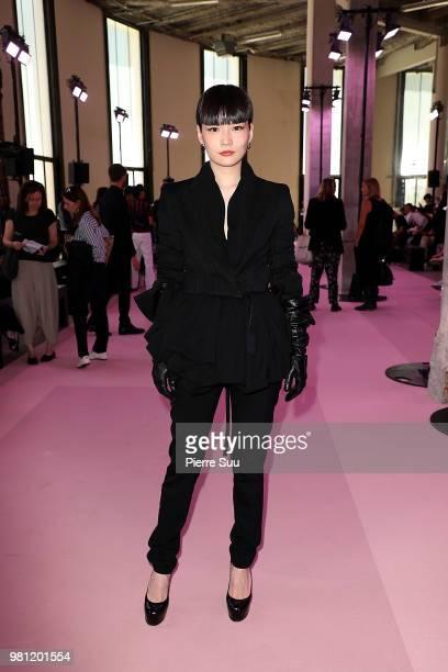 Kozue Akimoto attends the Ann Demeulemeester Menswear Spring/Summer 2019 show as part of Paris Fashion Week on June 22 2018 in Paris France