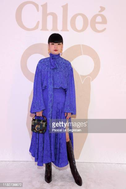Kozue Akimoto attends the Chloe show as part of the Paris Fashion Week Womenswear Fall/Winter 2019/2020 on February 28 2019 in Paris France