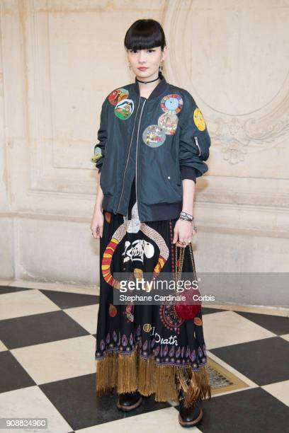 Kozue Akimoto attends the Christian Dior Haute Couture Spring Summer 2018 show as part of Paris Fashion Week January 22 2018 in Paris France