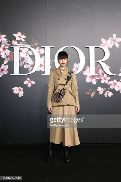 Kozue Akimoto attends the photocall at the Dior Pre Fall 2019 Men's Collection on November 30, 2018 in Tokyo, Japan.