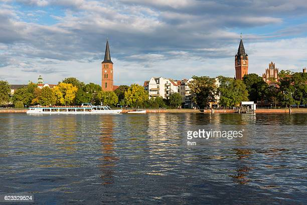köpenick district with sightseeing boat - berlin/ germany - köpenick stock pictures, royalty-free photos & images