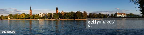 köpenick old town - panorama (berlin, germany) - köpenick stock pictures, royalty-free photos & images