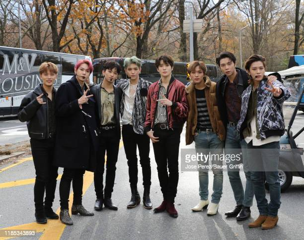 Pop boy band NCT 127 attends the 93rd Annual Macy's Thanksgiving Day Parade on November 28 2019 in New York City