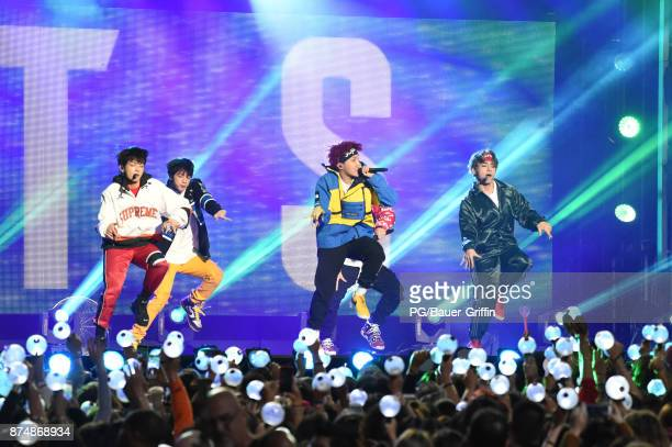 Kpop sensation BTS are seen at Jimmy Kimmel Live on November 15 2017 in Los Angeles California