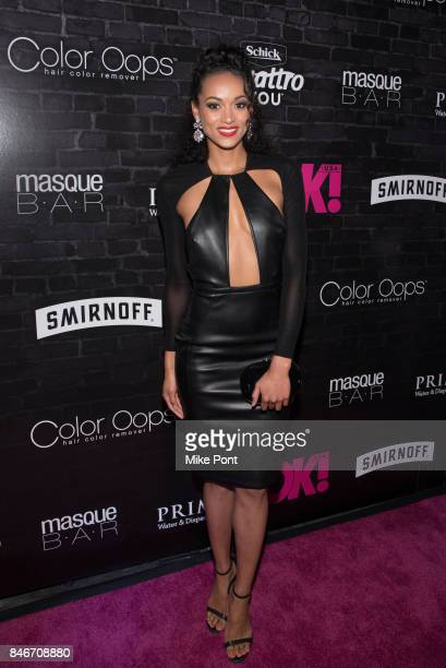 Kra McCullough attends OK Magazine's Fall Fashion Week 2017 Event at Hudson Hotel on September 13 2017 in New York City