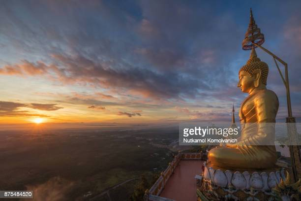 Krabi Tiger Cave temple with sunrise in morning