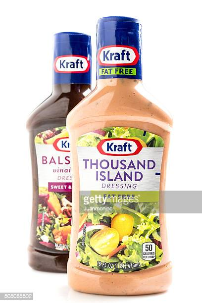 kraft brand thousand island dressing - kraft foods stock photos and pictures