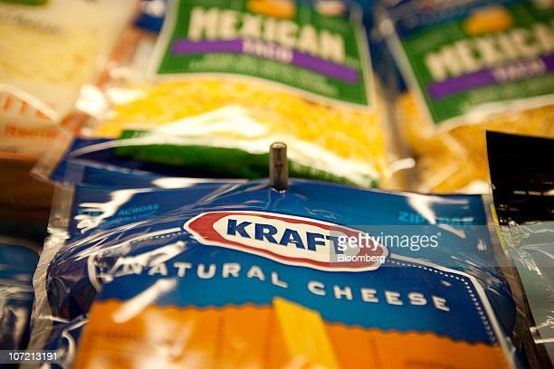 Kraft Foods Inc cheese products sit on a shelf at a grocery store in New York US on Tuesday Nov 30 2010 Kraft Foods Inc said it would challenge...