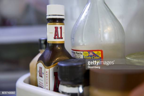 Kraft Heinz Co A1 brand steak sauce is arranged for a photograph in Tiskilwa Illinois US on Wednesday Aug 2 2017 Kraft Heinz is scheduled to release...